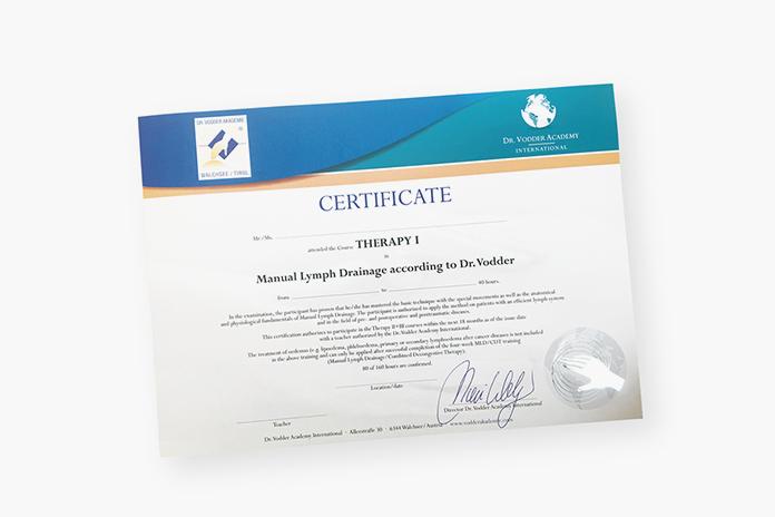 世界最高水準のリンパドレナージの資格を取得できる